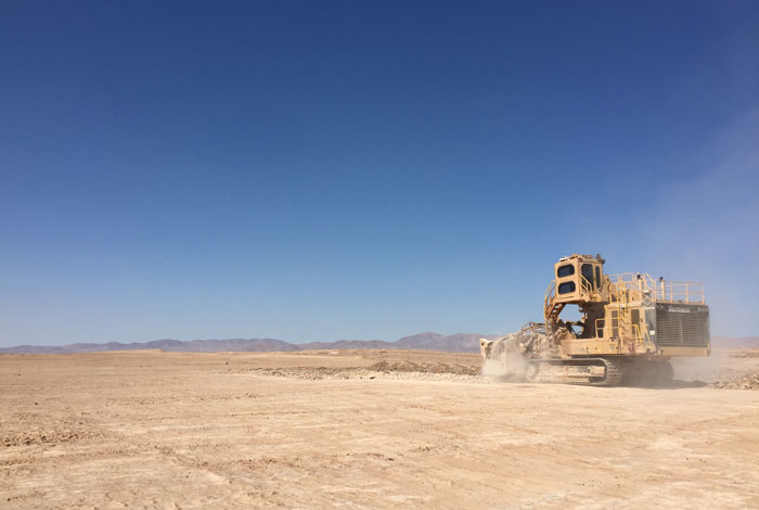 Terrain Leveler surface excavation machine delivers results in Chile